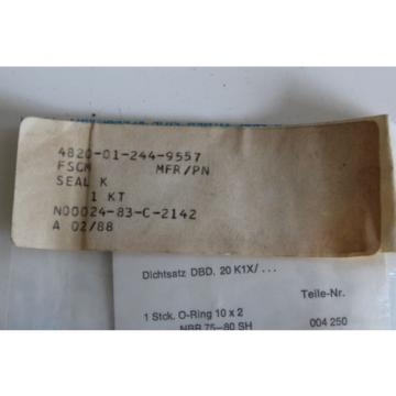 A020 Canada Japan Bosch Mannesmann Rexroth Oring Parts Kit Safety Relief Valve 310276 NOS