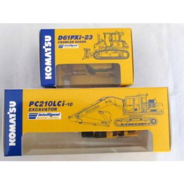 Komatsu Official 1/87 PC210LCi-10 Excavator, D61PXi-23 diecast Shareholder LTD