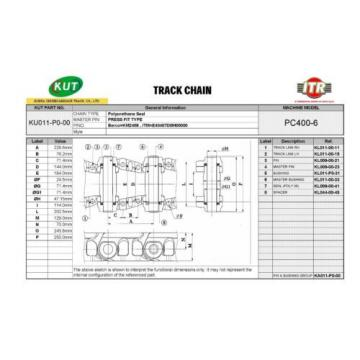 Track Chain Komatsu PC400-6, PC400-7, PC450-6, PC450-7 46 links