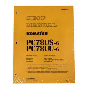 Komatsu Service PC78US-6, PC78UU-6 Shop Repair Manual