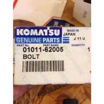 New Komatsu OEM Bolt 01011-62005 Warranty! Fast Shipping!