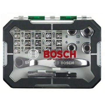 Bosch Screwdriver Bit And Ratchet Set, 26 Pieces