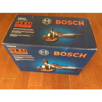 NEW! Bosch CSG15 Concrete Surfacing Grinder 12.5 Amp 0601776011