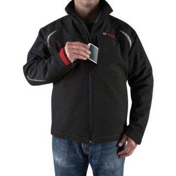 Men's Black Heated Jacket Kit 12 Volt Lithium-Ion Cordless Compact Jobsite Radio