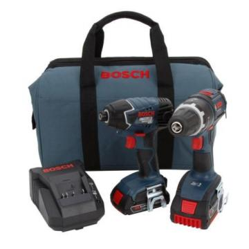 Bosch CLPK243-181 18-Volt Lithium-Ion 2-Tool Combo Kit with 1/2-Inch Drill/Drive