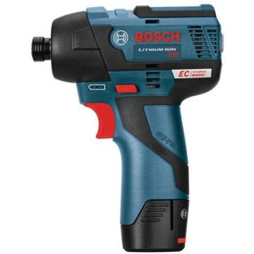"Impact Driver Tool Kit 12-Volt MAX Cordless Variable Speed 2600 RPM 1/4"" Bosch"