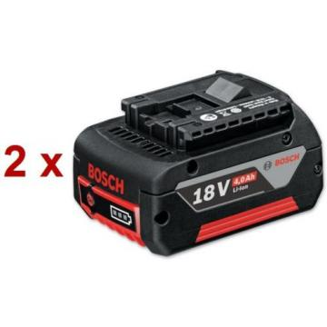 2x Bosch 18V 4.0AH COOLPACK Professional Li-Ion battery - New