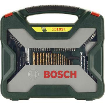 Bosch X-Line Titanium 103pcs. Drill Bit Set In Plastic Case GENUINE NEW