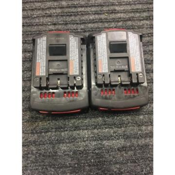 X2 Bosch 18v BAT612 Batteries 45922-2