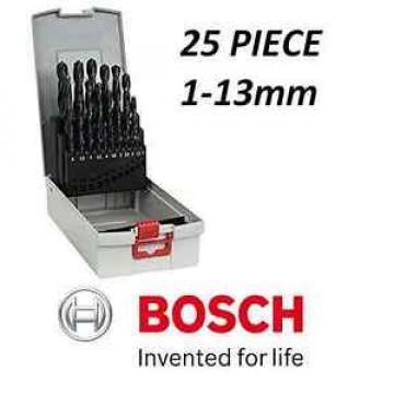 BOSCH Metal Drill Set Pro Box HSS-R 118° 1.0 - 13.0 mm 25 Pieces 2608587016