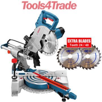 "Bosch GCM800SJ  8"" Mitre Saw + 2 Excel Blades T24/T48 110V 0601B19060"