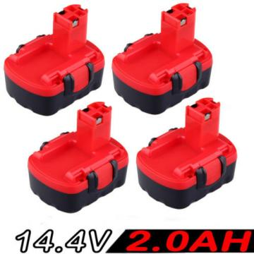 4x 14.4V 2.0AH Battery For Bosch BAT038 BAT040 BAT140 2607335276, 2607335533