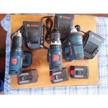 Bosch 18V Li-Ion brushless / regular tool set - 3 tools  3 battery  3 chargers