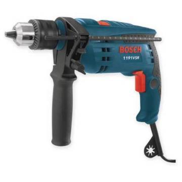 BOSCH 1191VSRK Corded Hammer Drill Kit,1/2 In,7 A,120 V