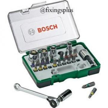 Bosch Screwdriver Bit Set 26 Pce Mini Ratchet Set Car Bike Motorcycle Cycle Etc