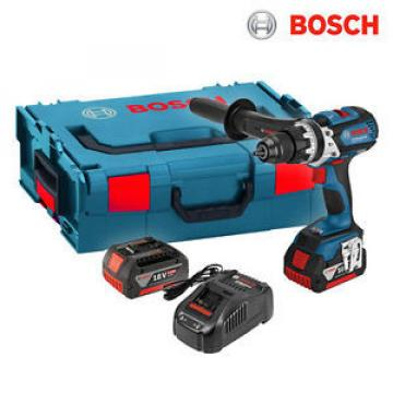 Bosch GSB 18 VE-EC Cordless Drill with brushless motor EC ( 2 x 5.0Ah ) - FedEx