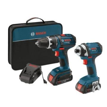 "New 18-Volt Lithium-Ion 2-Tool Combo Kit with 1/2"" Compact Tough Drill/Driver"