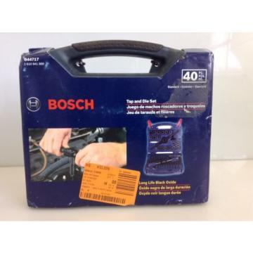 Bosch B44717 Tap and Die Set Carbon Steel 40 Pieces Black Oxide