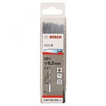 Bosch Metal drill bits HSS-R. DIN 338 8.5 x 75 x 117 mm 2607018432
