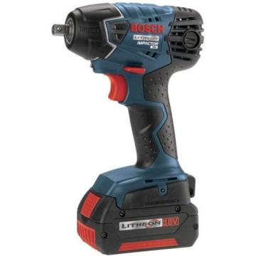 Bosch 18-Volt 3/8 inch Impact Wrench with (2) Fat Pack Battery 4.0Ah 18V NEW