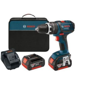 New Durable 18-Volt Compact Tough Hammer Drill Driver with 2 Fat Pack Batteries