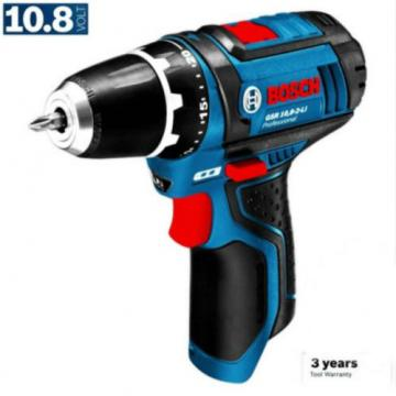 "New Bosch 10.8V Li-Ion Cordless 1/2"" Drill Driver Skin Only"