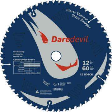 "Bosch Daredevil 12"" 60 Tooth Fine Finish Circular Saw Blade DCB1260 New"