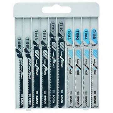 Bosch 2607010630 Set 10 Lame Seghetto per Legno/Metallo