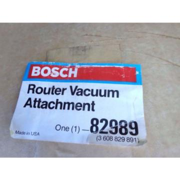 BOSCH 82989 Router Vacuum Attachment NEW NIB Complete Hose Hardware Easy to Use