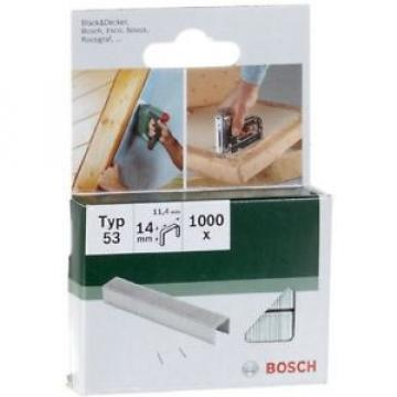 Bosch 2609255823 14mm Type 53 Fine Wire Staples (Pack Of 1000) FREE Shipping NEW