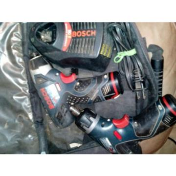 BOSCH Lithium-Ion 12volt Cordless Impact & Drill/Driver PS20/PS40 Bundle!!! Used