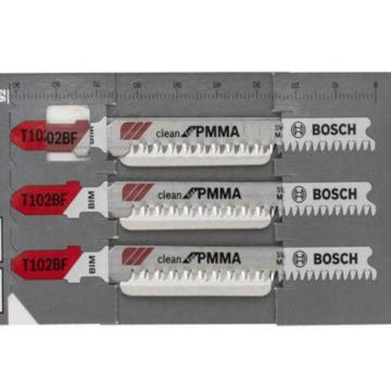 Bosch 5pcs BIM 92mm Jigsaw Blade T102BF Clean for PMMA Cutting