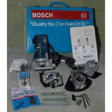 BOSCH 1609A Laminate Trim Router Kit in Case with extra bits