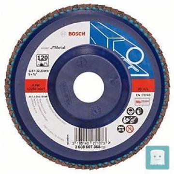 BOSCH 2 608 607 368 - DISCO LAMELLARE CON GRANA 120, 125 MM, DIAMETRO FORO 22...
