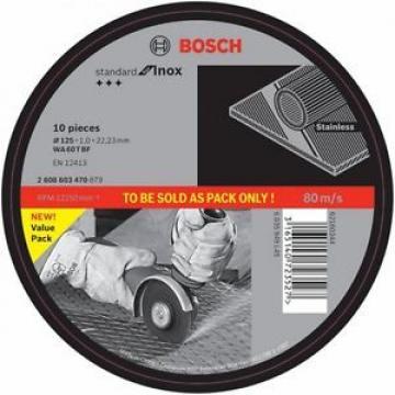 10 PACK! BOSCH UltraThin - Inox & Stainless Cutting Disc - 125 x 1 x 22.2mm