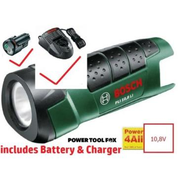 Bosch PLi 10,8 Li TORCH BARE TOOL c/w Battery & Charger 06039A1000 3165140730600