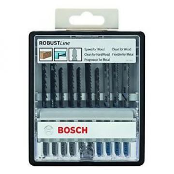 Bosch 2607010542 Set 10 Lame Seghetto Robust Line Legno/Metallo