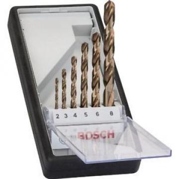 Bosch RobustL 2607019924 - Set 6 punte per trapano rotonde, HSS-Co