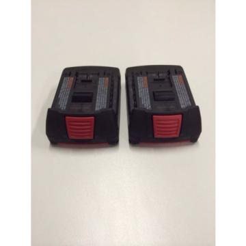 New 2 (two) Pack Bosch BAT612 18V 18 Volt Li-Ion Newest 2.0Ah Battery SlimPack