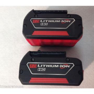NEW 2 (TWO) Bosch BAT619 18V Litheon 3.0 Ah Fatpack Batteries Lithium Ion