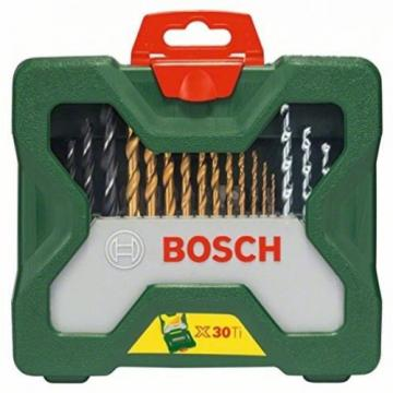 Bosch X-Line Accessory Set, 30 Pieces - Swivel-Mounted, Removable Bit Holder