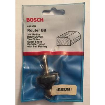 "NEW BOSCH 3/8"" RADIUS ROUNDOVER 2 FLUTES CARBIDE TIPPED ROUTER BIT 85296M USA"