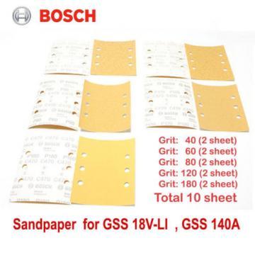 Bosch sandpaper For GSS 18V-LI GSS 140A sanding sheets, 10 pieces - 115 x 140mm