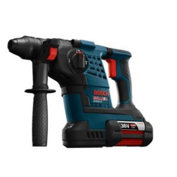 36-Volt Lithium-Ion 1-1/8 in. Cordless Rotary Hammer Drill Hand Tool Blue + Case