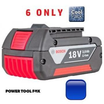 6 ONLY! Bosch 18v 3.0ah Li-ION COOL Battery 2607336235 1600Z00037 3165140730457