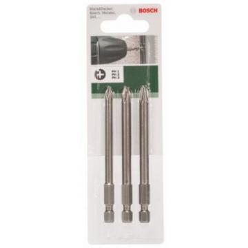Bosch 2609255966 89mm Screwdriver Bit Set With Standard Quality (3 Pieces)