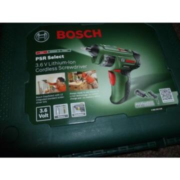*NEW*Bosch PSR Select Cordless Lithium-Ion Screwdriver with 3.6 V Battery-1.5 Ah