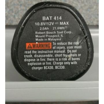 Bosch 12 Volt Battery | BAT 414 | 2.0 AH | Tested & Working | Used | Ships Fast