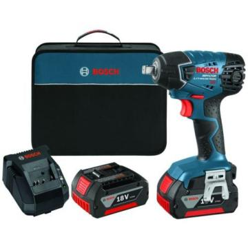 Variable Speed Impact Wrench 18 Volt Lithium-Ion 1/2 in., Kit 2 Batteries, Bosch