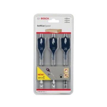 Bosch 2608587011 20/22/25 mm Self-Cut Speed Spade Bit Set (3-Piece)